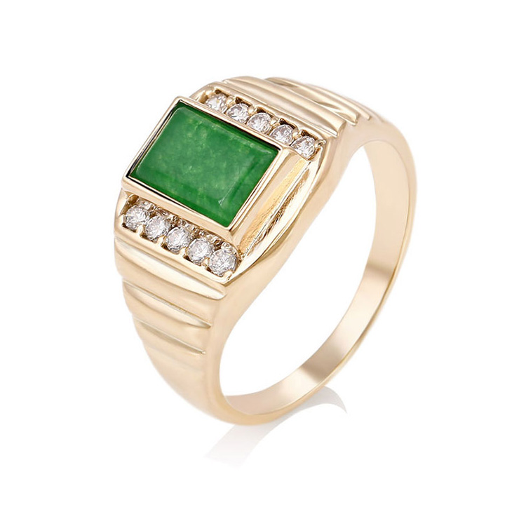 12752 Xuping fashion jewelry China wholesale 18k gold ring designs luxury glass rings charm jewelry for men