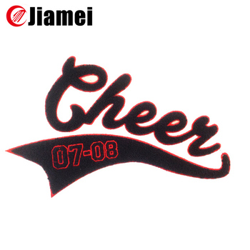 Custom Embroidery Letter Cheer Iron On Transfers Wholesale - Buy Cheer Iron  On Transfers Wholesale,Iron On Embroidered Letters,Large Iron On Patches