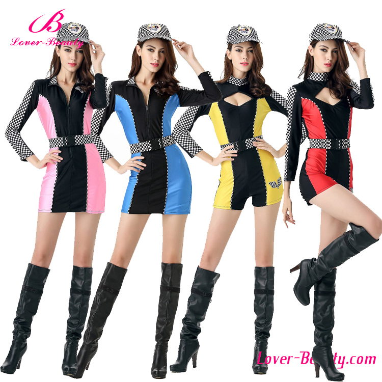 High Quality Sexy Racer Fashion Sports Wear Costumes