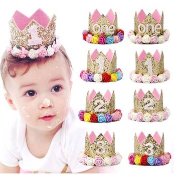 Happy First Birthday Party Hats Decor Cap One Hat Princess Crown 1st 2nd 3th Year