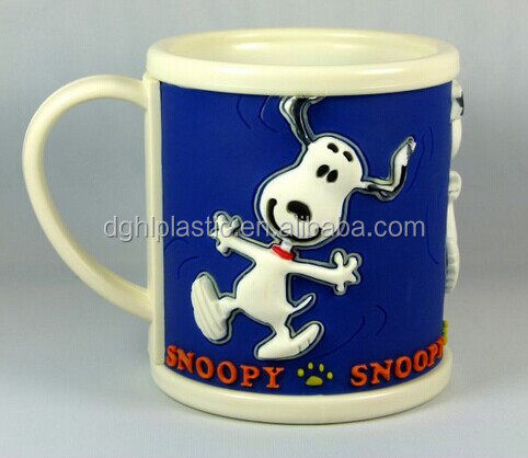 cartoon character snoopy soft pvc mug for promotion