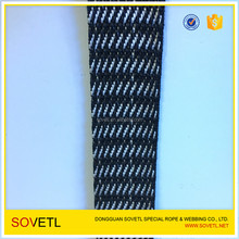 "1"" Twill Black/White UHMWPE Webbing For Hammock Strap"