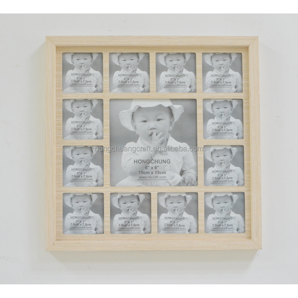Wholesale hand and foot print baby 12 month photo frame