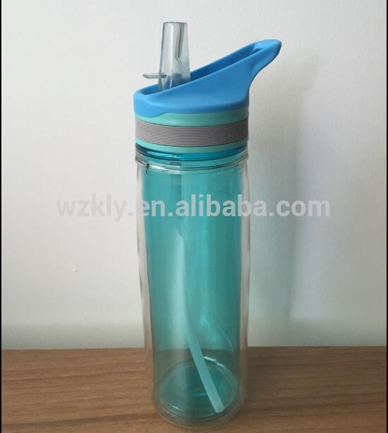 double layer double wall water bottle with fruit infuser