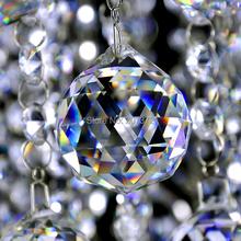 Kvalitní vánoční dekorace – řetěz z krystalových kuliček