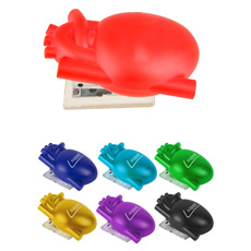 Top fashion office basic style hard ABS plastic mini bear shaped environmental manual function stapleless stapler