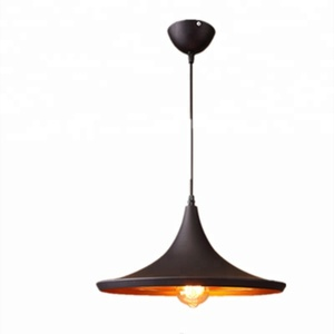 Black trumpet lampshade chandelier simple modern lamps