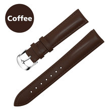 Кожаный ремешок для часов для мужчин и женщин, ремешок для часов 22 мм 20 мм 16 мм 14 мм 12 мм 18 мм, ремешок для часов с металлической пряжкой(Китай)