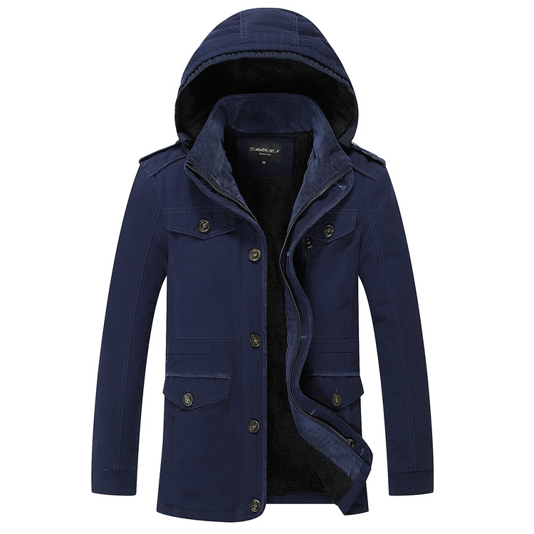 7718808 Newest Wholesale Optional Color Overcoat Fashion Hoodies Thick Warm Windproof Men Winter Coat фото