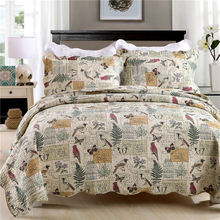 Best Prices custom design branded print quilt cover set wholesale