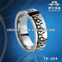 cool tungsten blackflamboyancy epoxy resin inlaid rings, cool tungsten jewelry
