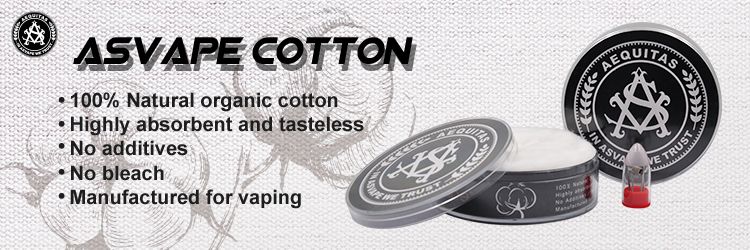 Bullet Box Mod Vape Cotton100% Natural Cotton For RDA Atomizer