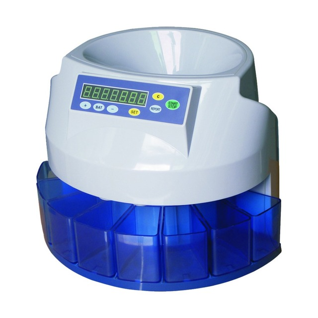 EC50 Coin Sorter/Counter, Countable coins $1, $5, $10, $25, 250 coins/min