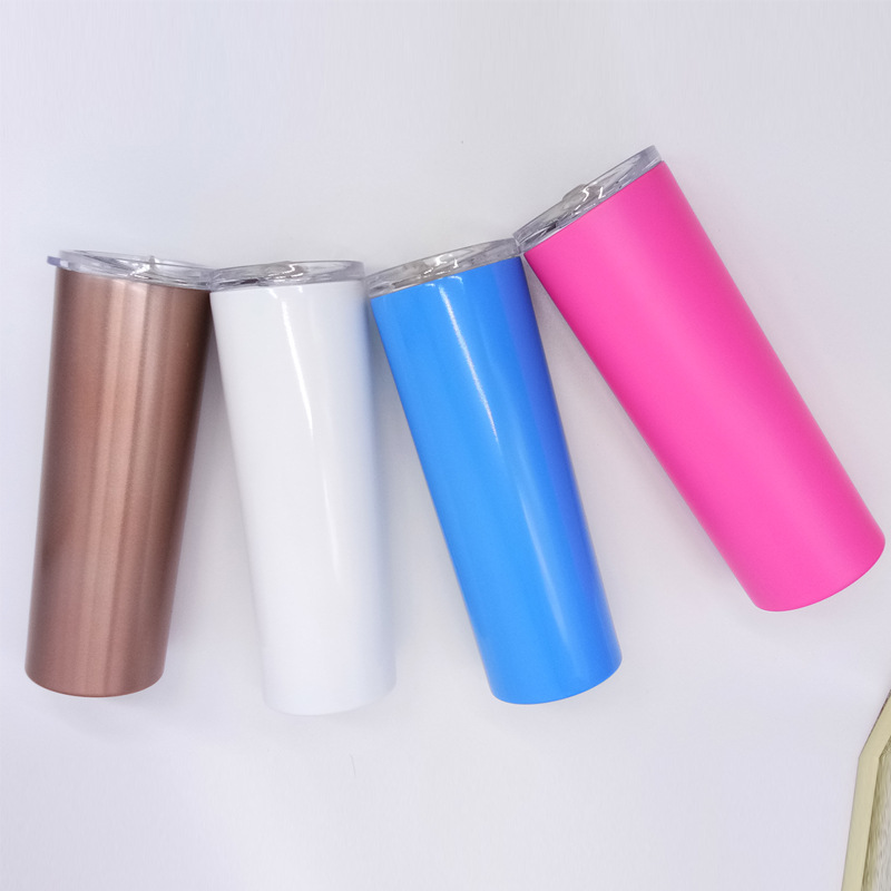 20oz Wholesale Skinny Tumbler With Straw Stainless Steel Skinny Tumbler