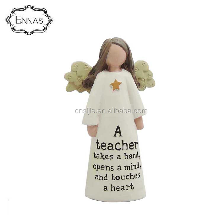 Home decoration teacher angel  resin figure