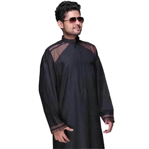 New style islamic clothing muslim men Arabian Man jubah Abaya with best quality Latest Design for man robe