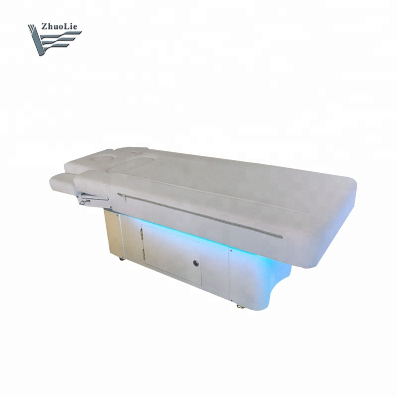 Double motors electric control massage bed for SPA