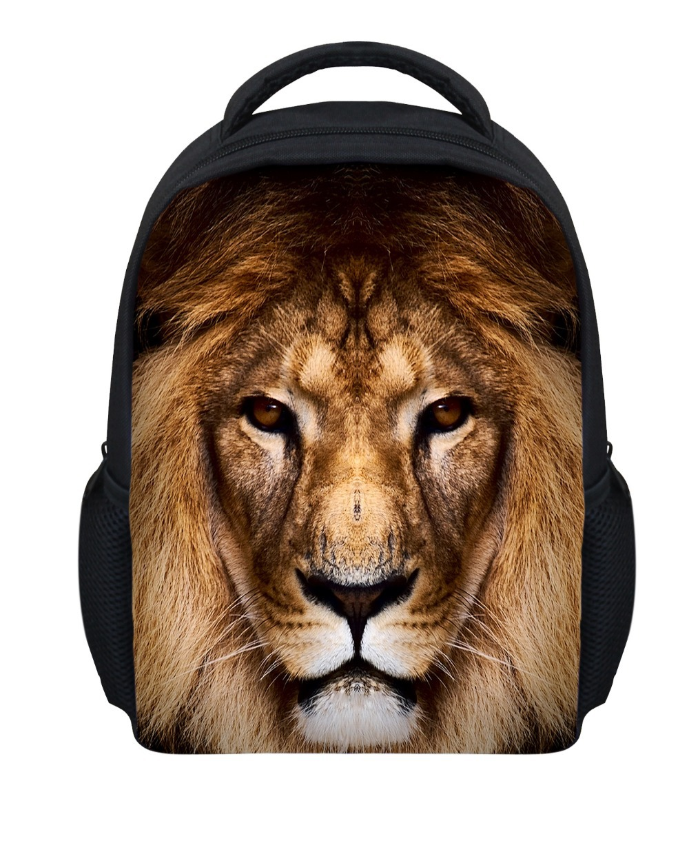 9ea87d2824bf Get Quotations · Fashion 12 Inch Children s School Bags for Boys Toddler  Baby Lion School Bags Animal Printing Backpack