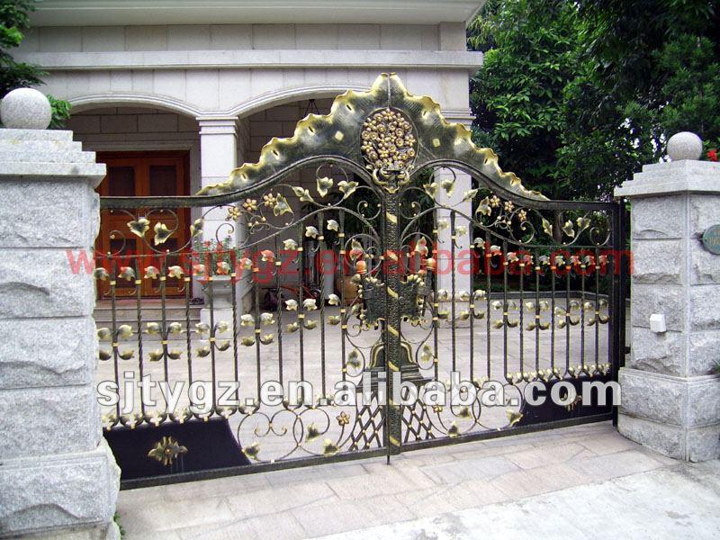 Heiße verkäufe dekorative tore und zaun design von schmiedeeisen ...