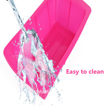 2015 Rectangle silicone microwave safe cake baking pan Handmade Soap DIY Bread Loaf Toast Mold