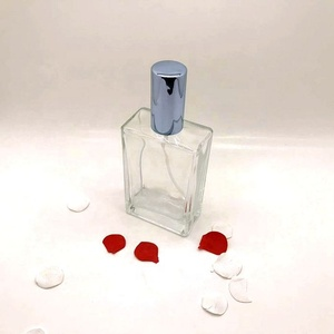 110ml Luxury Square Screw Pump Sprayer Cap Glass Perfume Bottles