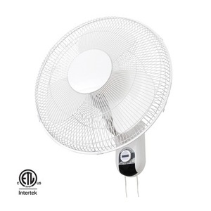ETL Approved Plastic Blade 3 Speed Choosable 16 inch Wall Mounted Oscillating Fan