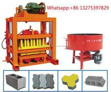 china products QTJ4-40 Concrete Masonry vibration pressure Concrete Block Making Machine Brick Machine Production Line