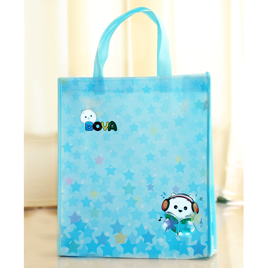 Colorful OEM Factory Promotional Laser Film Laminated Non Woven Shopping Tote Bag