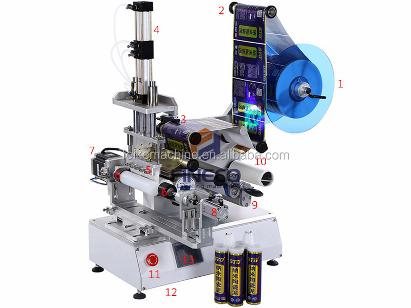Semi-Automatic square bottle labeling machine for wrap around labeling