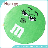 2015 custom 100% cotton yarn printed quick dry promotional round beach towel