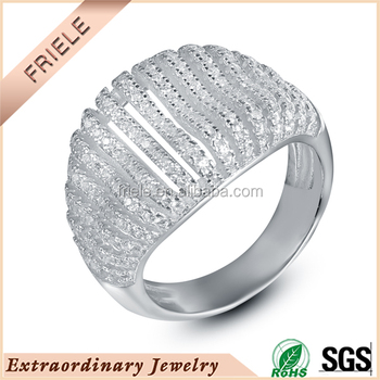 Cheap Silver Engagement Rings White Gold Plated Sterling Silver Rings