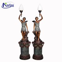 Factory supply bronze sculpture floor lamp NTBS-304Y