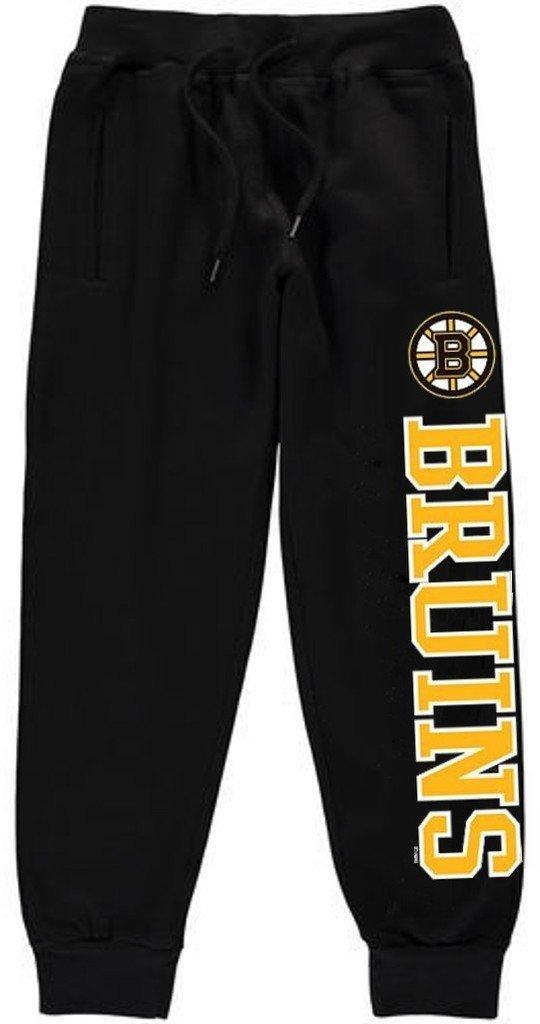 Get Quotations · Boston Bruins NHL Boys Majestic Jogger Sweatpants Black  Youth Sizes d61b5ddc1