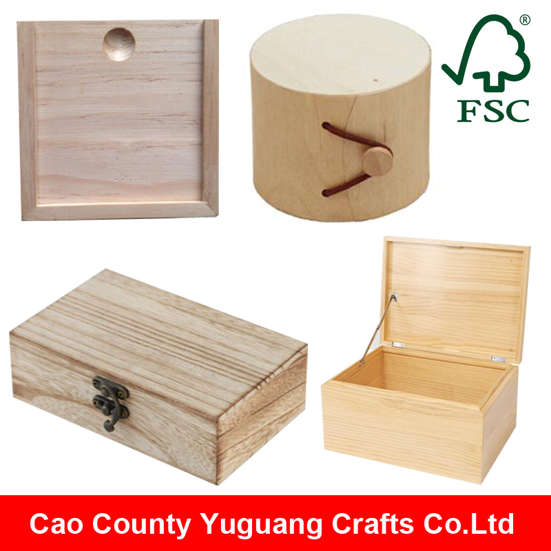 Custom Handmade Wooden Gift Packaging Box Wholesale Unfinished Small Wooden Boxes