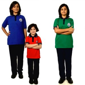 Polo shirt and pants 2pcs sets clothing school uniform designs for primary schools in india