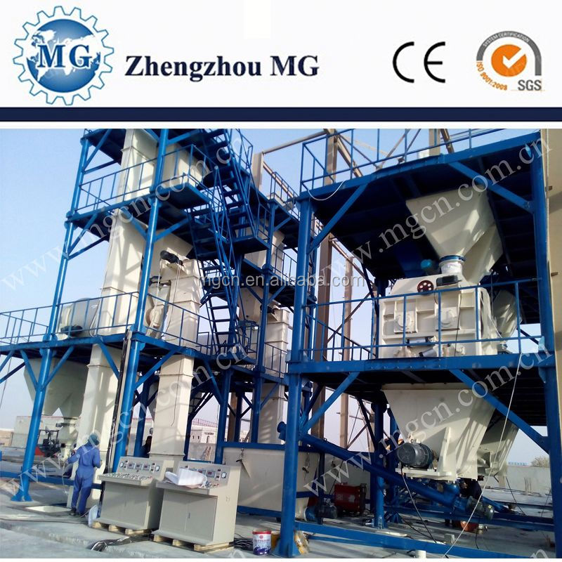 2016 China new technology full automatic dry mortar batching and mixing production line manufacturer