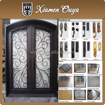 Customize Wrought Iron Double Entry Door Front Door Design Buy