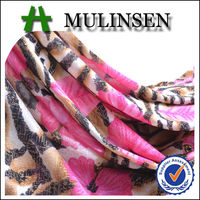 Mulinsen Textile Knit Polyester FDY 4 Way Stretch Printed Foil Shining Spandex Fabric
