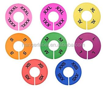 8 Kleuren Kleding Size Verdelers Ronde Hangers Closet Verdelers Met Markeerstift Buy Kleding Maat Dividerhanger Closet Verdelersdivider Met