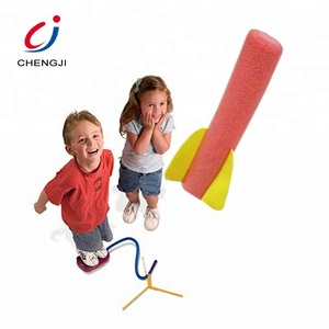 Outdoor game EVA foam flying kids foot stomp launcher jump rocket toy