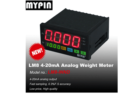 MYPIN weighing indicator, IP65, programmable weighing scale indicator with 3 relay output control