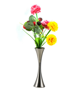 Bon Cheap Home Decorative Silver Metal Table Flower Vase