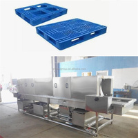 high quality plastic basket cleaner machine/turnover crates washer