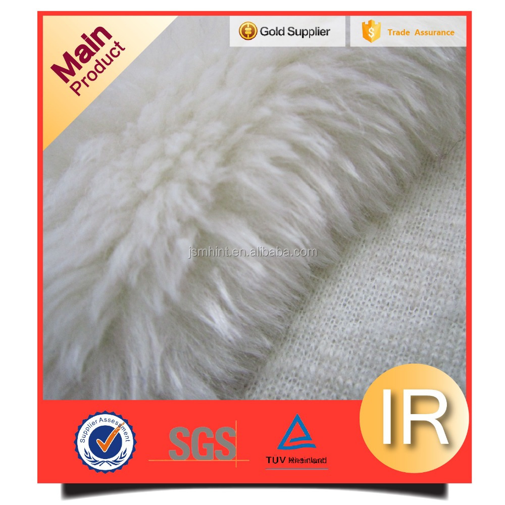 white faux fur,a manufacture of handbags fabric,white fur for bunny suit