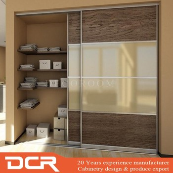 New Model Bedroom Furniture Wooden Wardrobe Cabinet Closet Sliding Doors