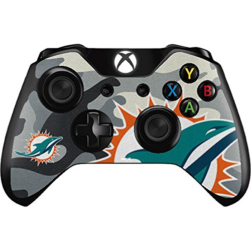 NFL Miami Dolphins Xbox One Controller Skin - Miami Dolphins Camo Vinyl Decal Skin For Your Xbox One Controller