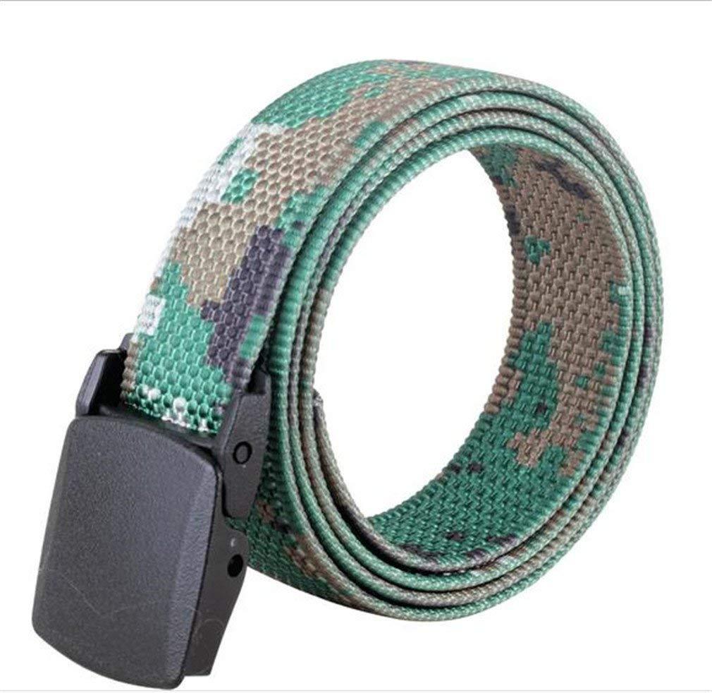 FCNHXJ Men's Army Tactical Belt Outdoors Military Belt Adjust Camouflage Strap 120Cm