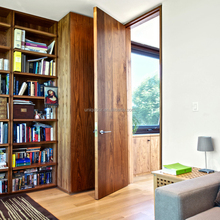 Traditional interior walnut flush doors for study room