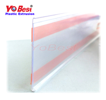 Supermarket Shelf Plastic Price/Data Strip Label Holders Tag Holders Sign Holders for Flat Surface with Adhesive Tape