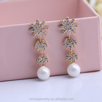 New Design Gold Jhumka Pearl Earrings For S With Price